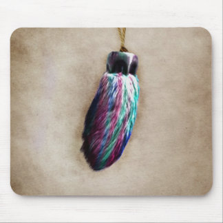 Colorful Lucky Rabbit's Foot Mouse Pad