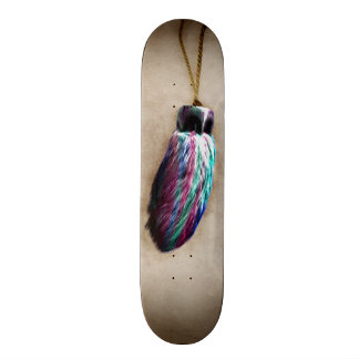 Colorful Lucky Rabbit's Foot Skate Board