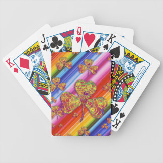 Colorful Lucky shamrocks Playing Cards Bicycle Playing Cards