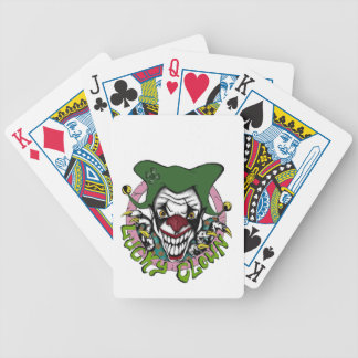 Colorful LuckyClown Bicycle Playing Cards