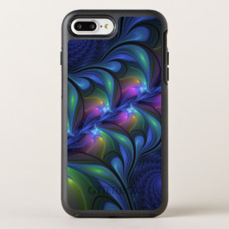 Colorful Luminous Abstract Blue Pink Green Fractal OtterBox Symmetry iPhone 8 Plus/7 Plus Case