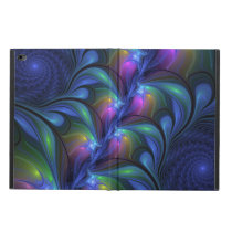 Colorful Luminous Abstract Blue Pink Green Fractal Powis iPad Air 2 Case