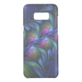 Colorful Luminous Abstract Blue Pink Green Fractal Uncommon Samsung Galaxy S8  Case