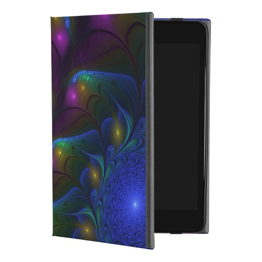 Colorful Luminous Abstract Modern Fractal Art iPad Mini 4 Case