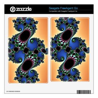 Colorful Lush, Swirls and Twirls, Fractal Design FreeAgent Go Skins