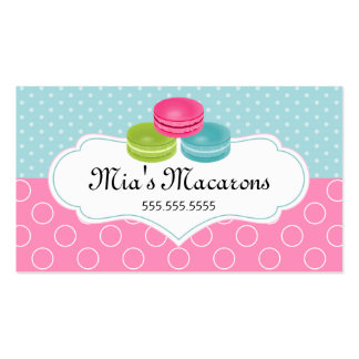 Colorful Macarons Bakery Business Cards