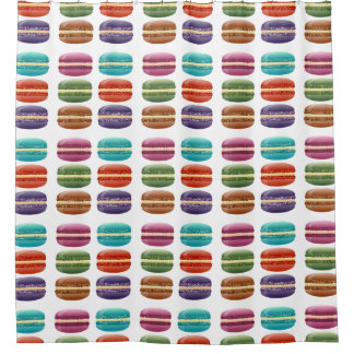 Colorful Macarons Shower Curtain