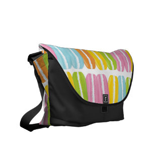 Colorful Macarons Stack Pattern Courier Bag