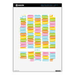 Colorful Macarons Stack Pattern iPad 3 Decals