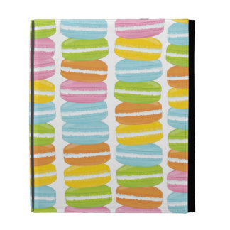 Colorful Macarons Stack Pattern iPad Folio Cover