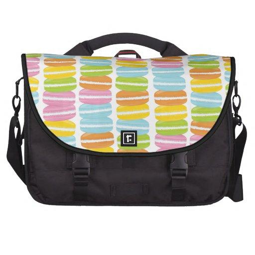 Colorful Macarons Stack Pattern Laptop Computer Bag