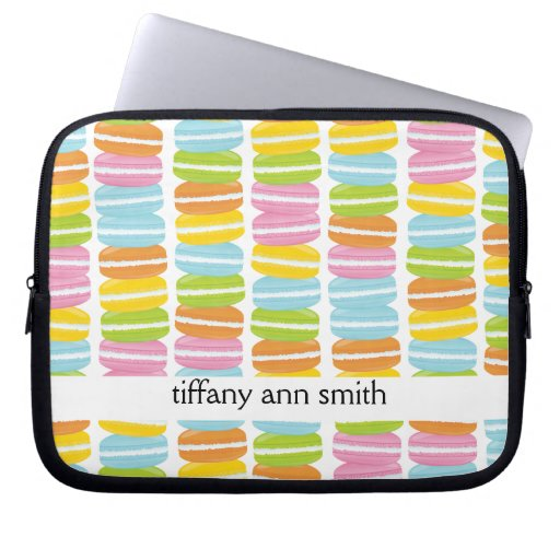 Colorful Macarons Stack Pattern Laptop Sleeves