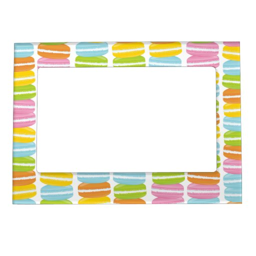 Colorful Macarons Stack Pattern Magnetic Frame