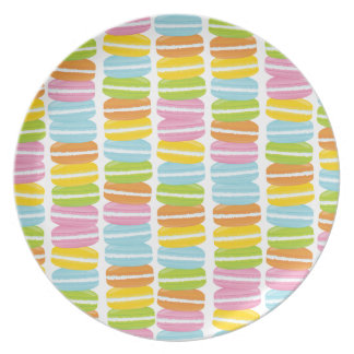 Colorful Macarons Stack Pattern Party Plate