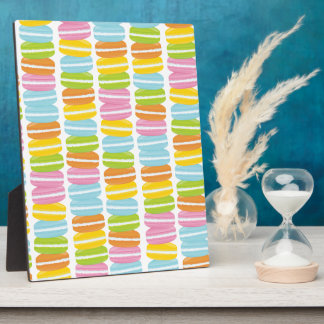 Colorful Macarons Stack Pattern Plaque