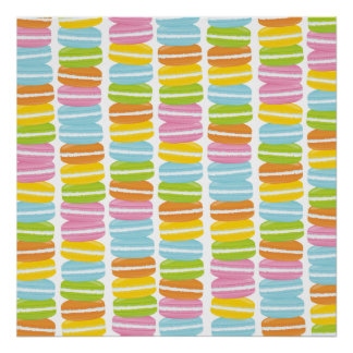 Colorful Macarons Stack Pattern Poster