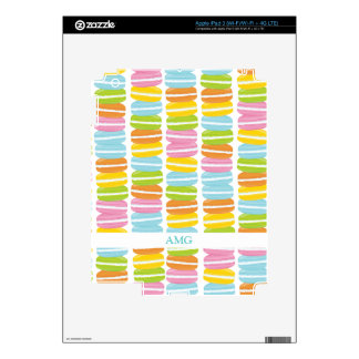 Colorful Macarons Stack Pattern Skins For iPad 3