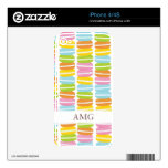 Colorful Macarons Stack Pattern Skins For iPhone 4