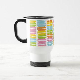 Colorful Macarons Stack Pattern Travel Mug