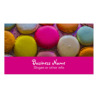 Colorful Macarons Tasty Baked Dessert Business Card