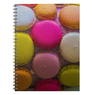 Colorful Macarons Tasty Baked Dessert Notebook