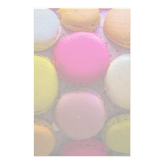 Colorful Macarons Tasty Baked Dessert Stationery