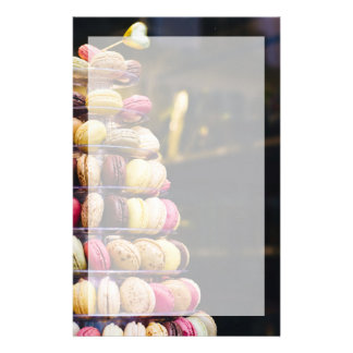 Colorful Macarons Tower Stationery Design