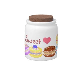 Colorful Macaroons Candy Jar