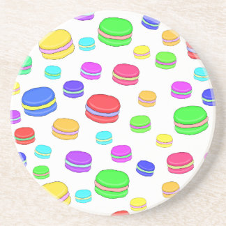 Colorful macaroons coaster