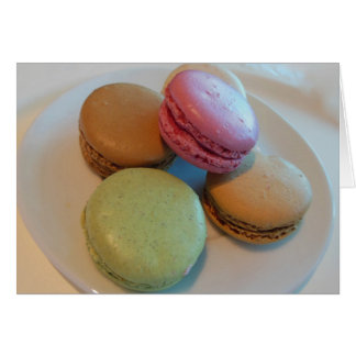 Colorful Macaroons in Paris Card