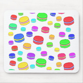 Colorful macaroons mouse pad
