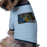 Colorful Macaw bird perched on the branch Doggie Tee