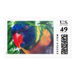 Colorful Macaw Parrot Stamp