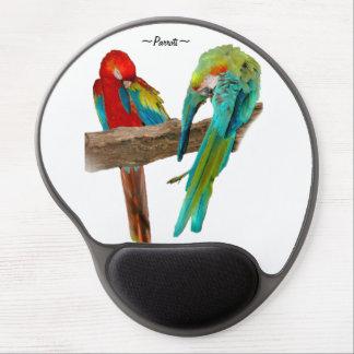 Colorful Macaw Parrots Birds Gel Mousepad