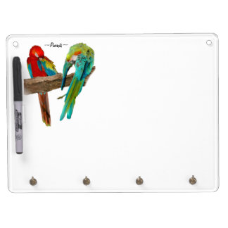 Colorful Macaw Parrots Dry-Erase Board
