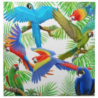 Colorful Macaw Parrots Napkin