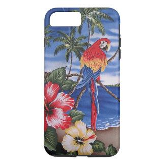 Colorful Macaws Hawaiian Beach Summer Scene iPhone 7 Plus Case