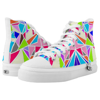 Colorful Machaon High-Top Sneakers