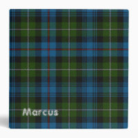 Colorful MacKenzie Plaid Binder