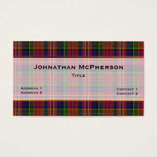 Colorful MacPherson Plaid Custom Business Card