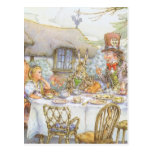 Colorful Mad Hatter's Tea Party Post Card