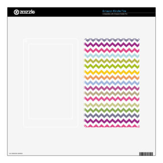 Colorful Made of Zig Zag Stripes Kindle Fire Skins