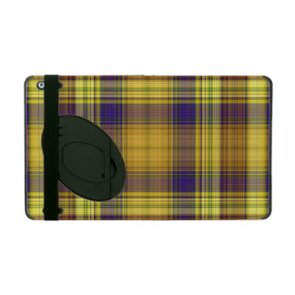 Colorful Madras Plaid iPad Case