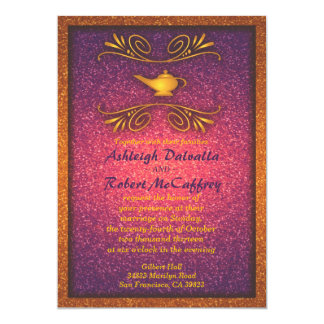 "Colorful Magic Lamp Wedding Invitation 2 5"" X 7"" Invitation Card"