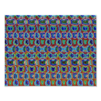 Colorful magic manifestation funny pattern pearls poster