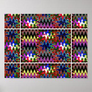 Colorful magic manifestation graphics waves sparkl poster