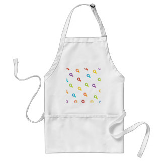colorful magnifying glasses aprons