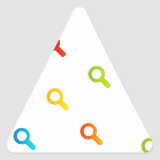colorful magnifying glasses triangle sticker