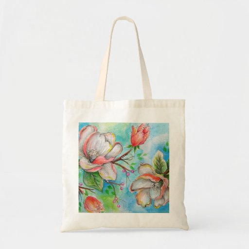 Colorful Magnolia Tote Bag