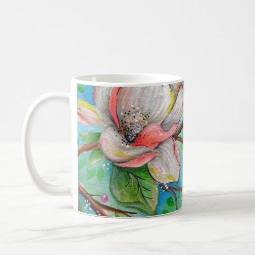 Colorful Magnolias Coffee Mug